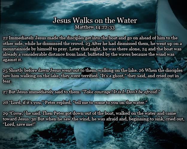 Matthew 14:22-33